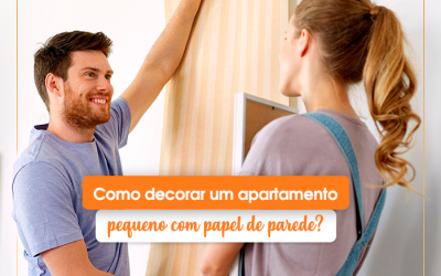 Como decorar um apartamento pequeno com papel de parede?